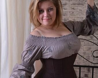 Underbust steel bones corset