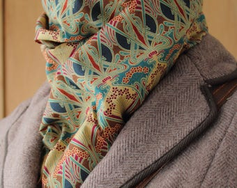 Liberty Of London Ianthe Fabric Lined Neck Scarf