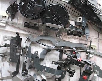 Salvaged Vintage Typewriter Pieces & Parts for Repurpose Steampunk Assemblage Craft Supply Altered Art