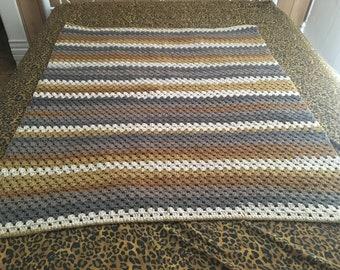 Granny Stitch Crochet Throw