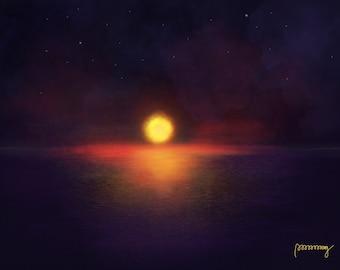 Starry Night Midnight Blue-2