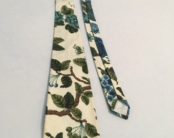 Vintage Mens Cotton Print Tie