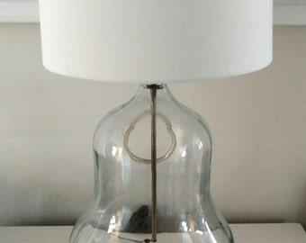 Mexican Bottle Glass Table Lamp / Demi John Lamp