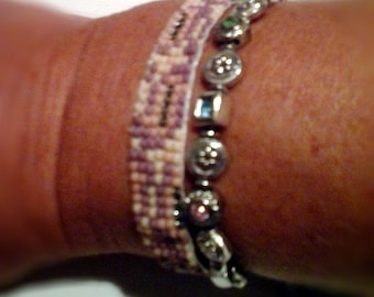 Woven snake pattern bracelet  Boho beadloom friendship cuff, Ibiza style jewelry, Strass beaded bracelet