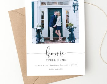 Home Sweet Home Moving Announcement |  New Address | We've Moved Photo Card | Printed or Digital File DIY