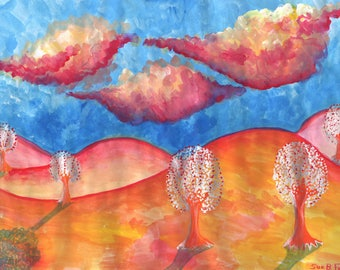 Original painting: Pink Hills Dream
