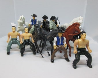 cowboys and indians with their horses