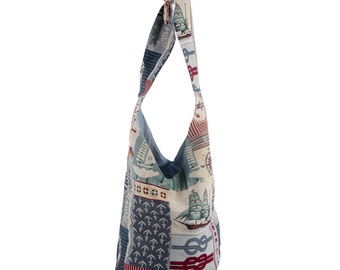 Shoulder bag Shopperbag Maritim anchor sailing ship