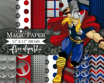 Thor SuperHeroes SuperHeroe Digital Paper Clipart Clip Art
