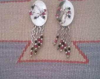 Retro 1980's Dangle Earrings
