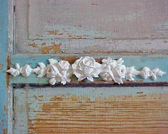 Shabby Chic Furniture Appliques Rose Center drops Cottage Chic