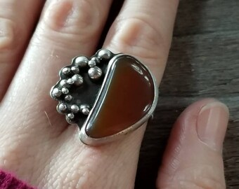 Orange Crush Carnelian Ring
