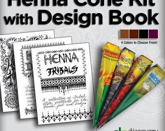 Henna Cone & Design Book Kit