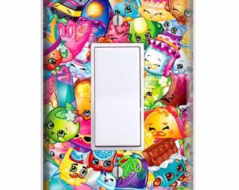 Shopkins Decorative Rocker Light Switch Cover - Decorative Rocker Switch Plate Cover