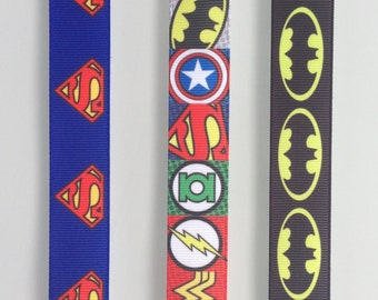 SUPERHERO or the simpsons LANYARD with SAFETY clip - batman, superman, the Gruffalo