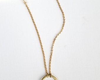 Triple quartz point layering necklace