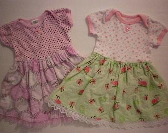 SALE! Infant girl onesie dress - 0-3 months