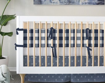 NEW Buffalo Check // Standard Crib & Oval bedding // Choose your fabrics // Choose your Trim // JUst Arrived