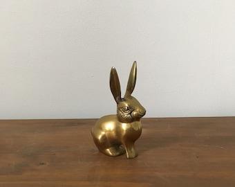 small vintage brass rabbit