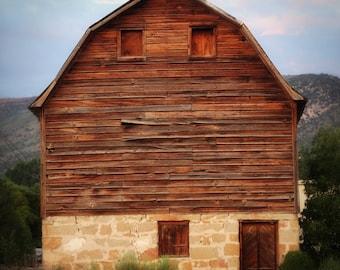 stone barn - fine farm photographs (and so fresh) 8x8 hardboard photograph