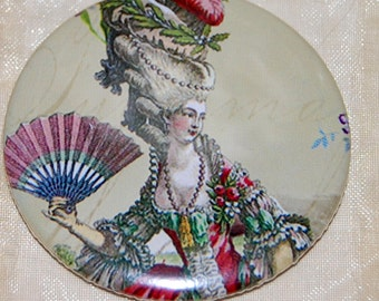 Souvenirs de Versailles pocket mirror, a Marie Antoinette inspired WickedlyLovely Art pocket mirror
