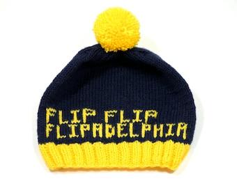 Flip Flip Flipadelphia Hand Knit Hat