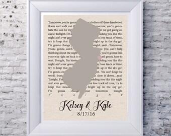 Engagement gift with custom lyrics