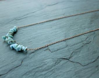 Larimar bib necklace