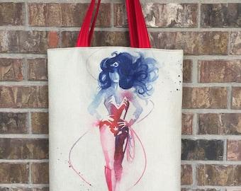 Wonder Woman Inspired Tote Bag