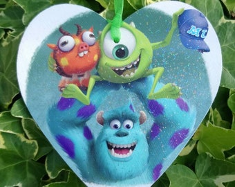 Disney inspired Pixar Monsters University heart plaque, choose from multiple images