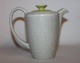 Poole coffee hot water jug pot, Twintone Slimline, lime green grey seagull, 1950s 1960s mid century retro