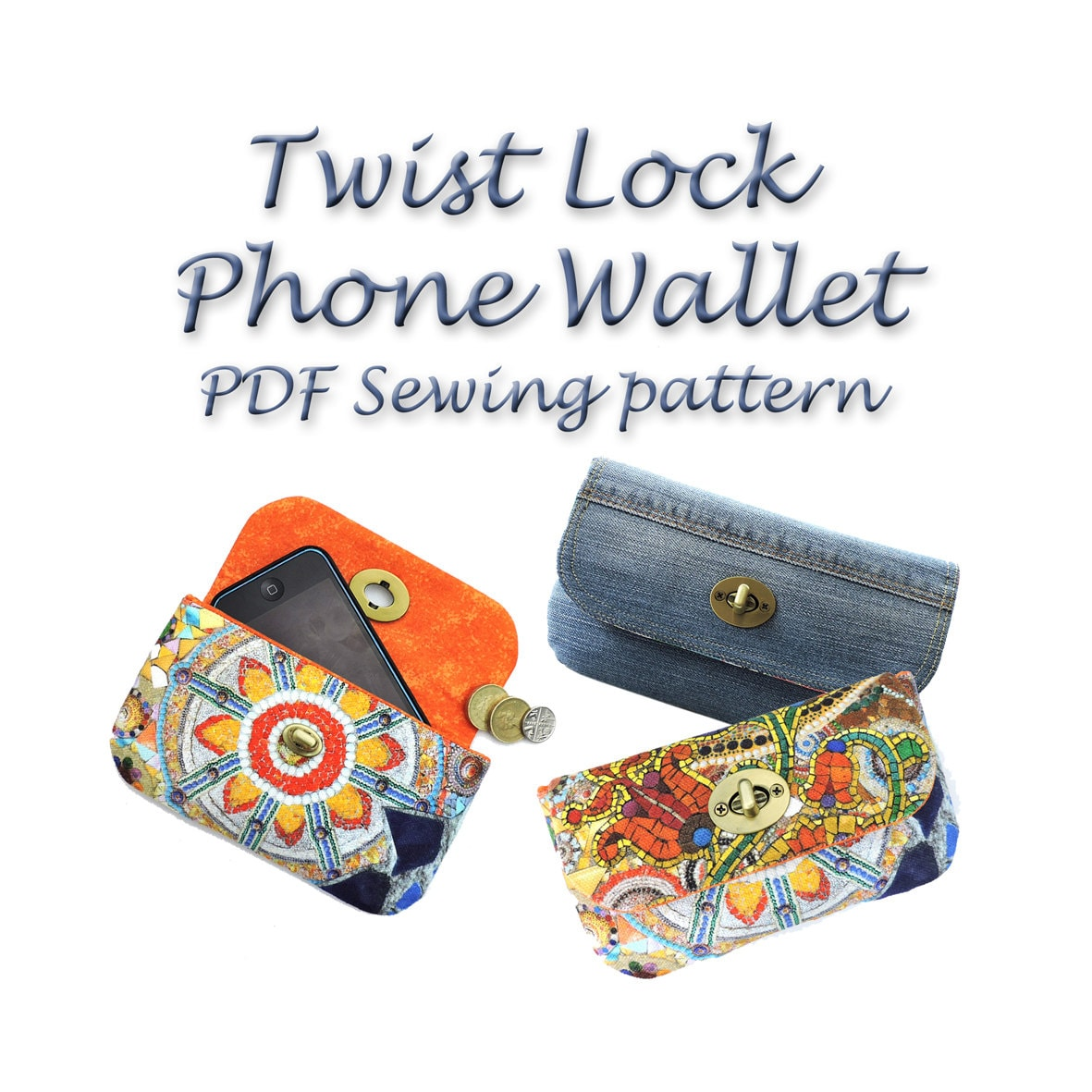 Wallet sewing pattern twist lock pdf purse pattern purse sewing this is a digital file jeuxipadfo Choice Image
