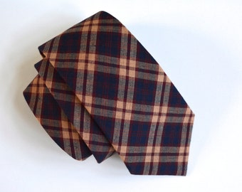 navy blue necktie,navy blue plaid,navy blue and burgundy plaid,mens ties