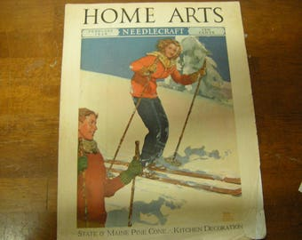 vtge magazine-Home Arts-February 1939-needlecraft-patterns-fashion-recipes-collection-ephemera-