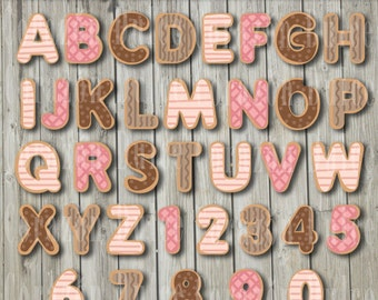 Cookie Alphabet  -Personal and Commercial Use Clip art-INSTANT DOWNLOAD