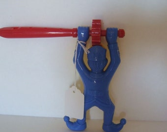 Whistle Noise Maker Court Jester Made In Germany Collectible Blue Yellow Red
