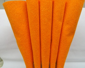 Wool Felt, Wool Sheets, Orange Wool, Merino Blend Wool Felt, Craft Felt, 12 X 18