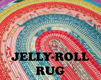 Jelly Roll Rug Paper Pattern by Roma Lambson
