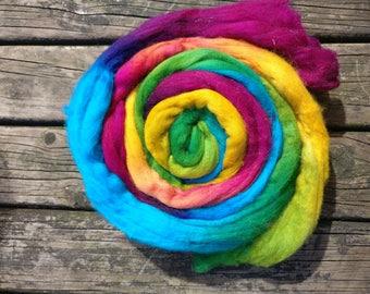 18.5 Micron Merino Wool Fibre 50g- Rainbow