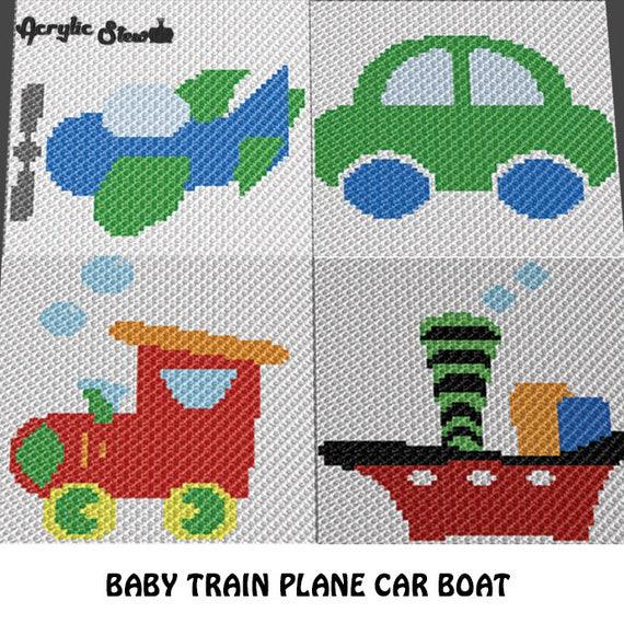 Baby Graphgan Pattern Corner To Corner C2c Crochet Little