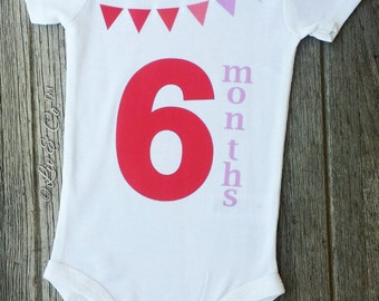 Baby Girl Clothes, Pink 6 Months Old Girl Romper, Baby Gift Set, Six Months Milestone Outfit, Photo Prop, Infant Girl Clothing, Liv & Co.™