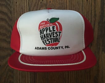 Vintage National Apple Harvest Festival Adams County Pennsylvania Snapback Hat Baseball Cap