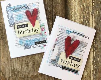 5 x 7 greeting card set  | happy birthday | making wishes | Stephanie Ackerman | blessed friend