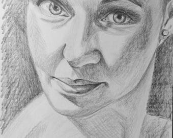 Custom Pencil Sketch Pencil Drawing Pencil Portrait