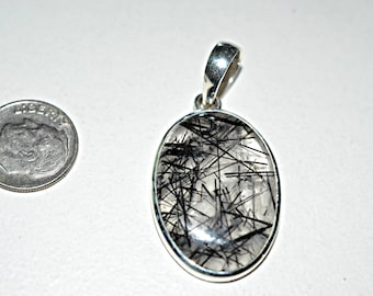 Rutilated Quartz Silver Pendant - Rutilated Quartz Pendant - Rutilated Quartz Necklace Pendant , 925 Sterling Silver