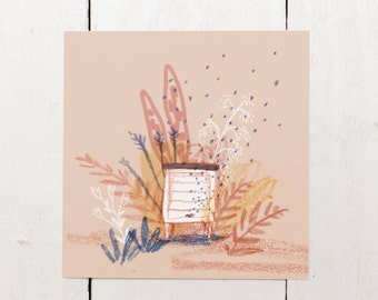 Beehive - Square Greeting Card