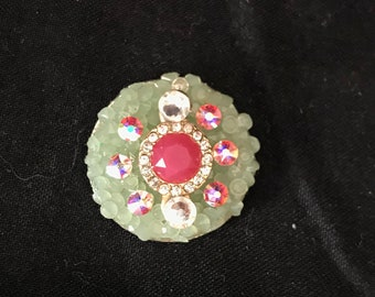 Pink & Green Bling Bindi