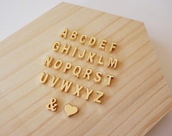 bead letter first name initial alphabet doré au choice sold individually
