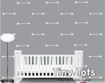 White Arrow Wall Decals-Arrow Wall Decal-Arrow Wall Art-White Wall Decals-Modern Nursery Decor