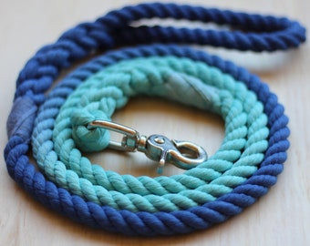 Custom 2 Color Cotton Rope Leash